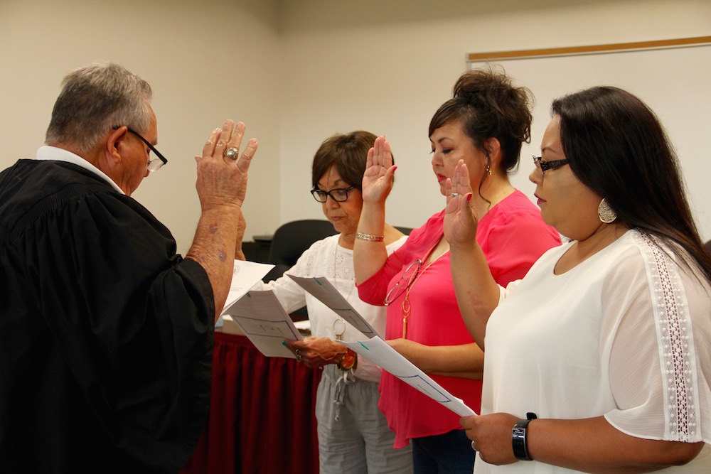 Dilley Council Sworn-in